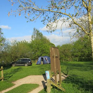 Lazonby Pool camp site entrance