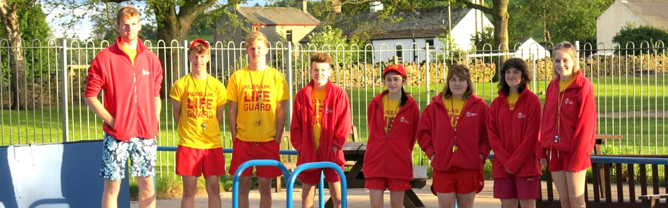 Photo: lifeguards at Lazonby Pool