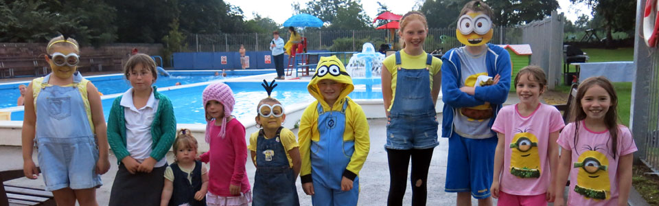Photo: Minions party at Lazonby Pool