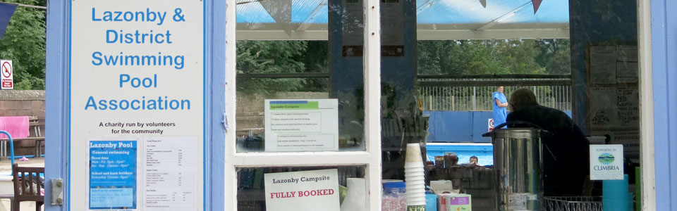 Photo: kiosk at Lazonby Pool
