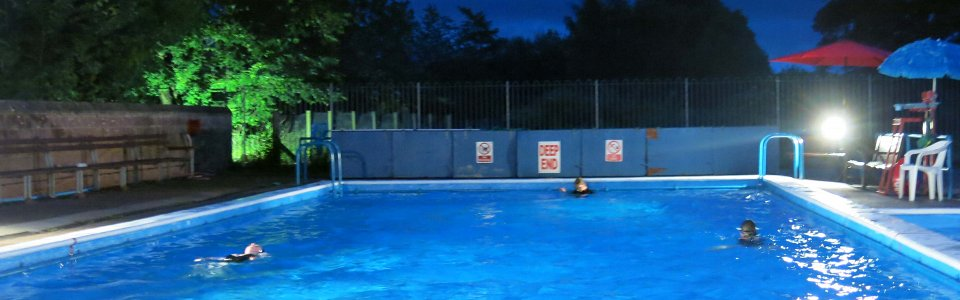 2016 24 Hour Swim - at night